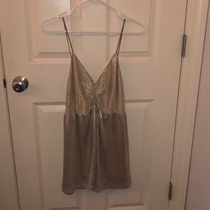 Gold/Silver Shimmery Urban Outfitters Romper